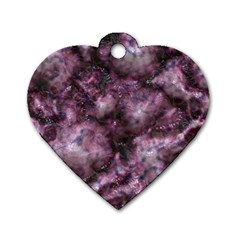 Alien Dna Purple Dog Tag Heart (Two Sides)