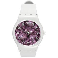 Alien Dna Purple Round Plastic Sport Watch (M)