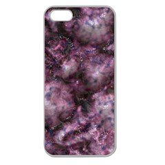 Alien Dna Purple Apple Seamless iPhone 5 Case (Clear)