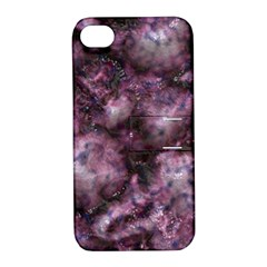 Alien Dna Purple Apple iPhone 4/4S Hardshell Case with Stand