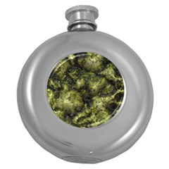 Alien DNA green Round Hip Flask (5 oz)