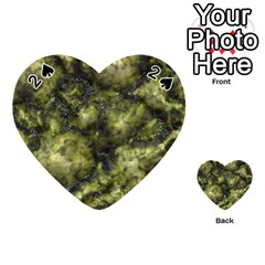 Alien Dna Green Playing Cards 54 (heart)