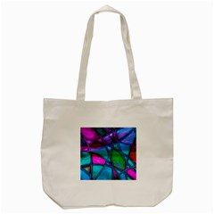 Imposant Abstract Teal Tote Bag (Cream)