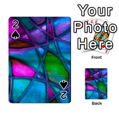 Imposant Abstract Teal Playing Cards 54 Designs