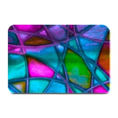 Imposant Abstract Teal Plate Mats