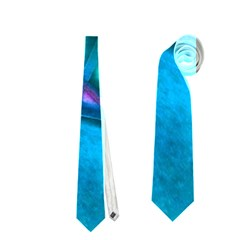 Imposant Abstract Teal Neckties (Two Side)