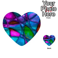 Imposant Abstract Teal Multi-purpose Cards (Heart)