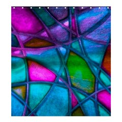 Imposant Abstract Teal Shower Curtain 66  x 72  (Large)