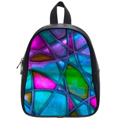 Imposant Abstract Teal School Bags (Small)