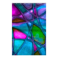 Imposant Abstract Teal Shower Curtain 48  X 72  (small)