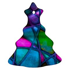 Imposant Abstract Teal Christmas Tree Ornament (2 Sides)