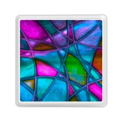 Imposant Abstract Teal Memory Card Reader (Square)