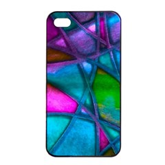 Imposant Abstract Teal Apple Iphone 4/4s Seamless Case (black)