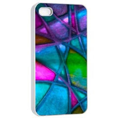 Imposant Abstract Teal Apple Iphone 4/4s Seamless Case (white)