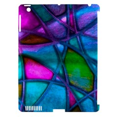Imposant Abstract Teal Apple iPad 3/4 Hardshell Case (Compatible with Smart Cover)