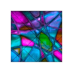 Imposant Abstract Teal Acrylic Tangram Puzzle (4  x 4 )