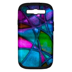 Imposant Abstract Teal Samsung Galaxy S III Hardshell Case (PC+Silicone)