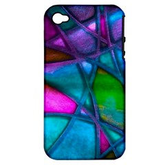Imposant Abstract Teal Apple iPhone 4/4S Hardshell Case (PC+Silicone)