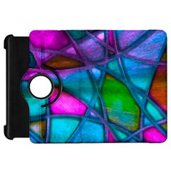 Imposant Abstract Teal Kindle Fire HD Flip 360 Case