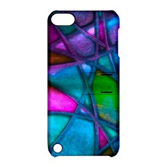 Imposant Abstract Teal Apple iPod Touch 5 Hardshell Case with Stand