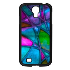 Imposant Abstract Teal Samsung Galaxy S4 I9500/ I9505 Case (Black)