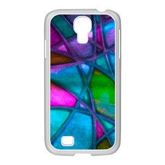 Imposant Abstract Teal Samsung GALAXY S4 I9500/ I9505 Case (White)