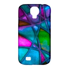 Imposant Abstract Teal Samsung Galaxy S4 Classic Hardshell Case (PC+Silicone)