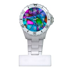 Imposant Abstract Teal Nurses Watches