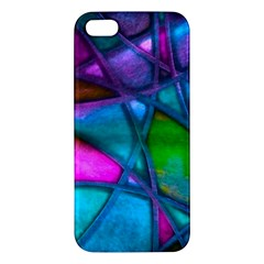 Imposant Abstract Teal iPhone 5S Premium Hardshell Case