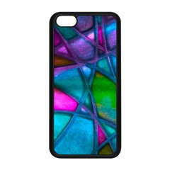 Imposant Abstract Teal Apple iPhone 5C Seamless Case (Black)