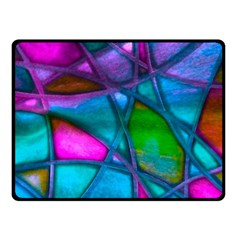 Imposant Abstract Teal Double Sided Fleece Blanket (Small)
