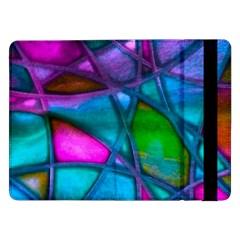 Imposant Abstract Teal Samsung Galaxy Tab Pro 12.2  Flip Case