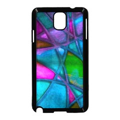 Imposant Abstract Teal Samsung Galaxy Note 3 Neo Hardshell Case (Black)