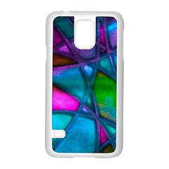 Imposant Abstract Teal Samsung Galaxy S5 Case (White)