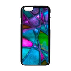 Imposant Abstract Teal Apple iPhone 6/6S Black Enamel Case