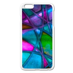Imposant Abstract Teal Apple iPhone 6 Plus/6S Plus Enamel White Case