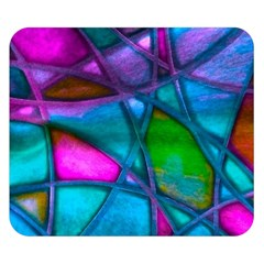 Imposant Abstract Teal Double Sided Flano Blanket (small)