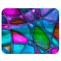 Imposant Abstract Teal Double Sided Flano Blanket (Medium)
