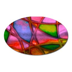 Imposant Abstract Red Oval Magnet