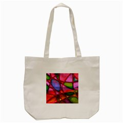 Imposant Abstract Red Tote Bag (Cream)