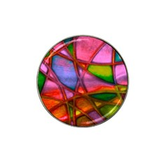 Imposant Abstract Red Hat Clip Ball Marker (4 pack)