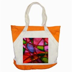 Imposant Abstract Red Accent Tote Bag