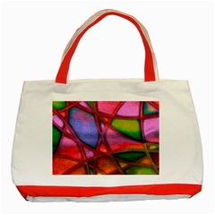 Imposant Abstract Red Classic Tote Bag (Red)