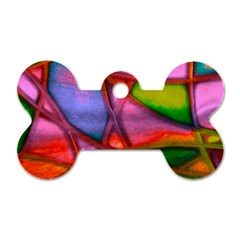 Imposant Abstract Red Dog Tag Bone (One Side)