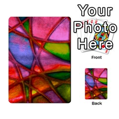 Imposant Abstract Red Multi-purpose Cards (Rectangle)