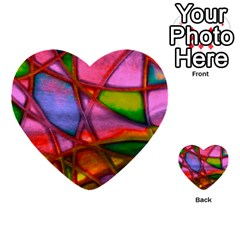 Imposant Abstract Red Multi-purpose Cards (Heart)