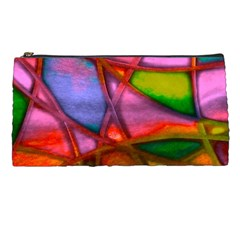 Imposant Abstract Red Pencil Cases