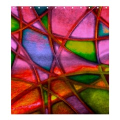 Imposant Abstract Red Shower Curtain 66  X 72  (large)