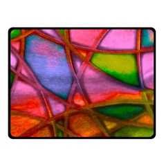 Imposant Abstract Red Fleece Blanket (small)