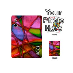 Imposant Abstract Red Playing Cards 54 (mini)